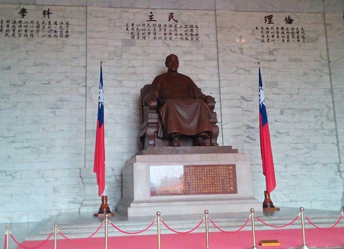 蒋介石彫像