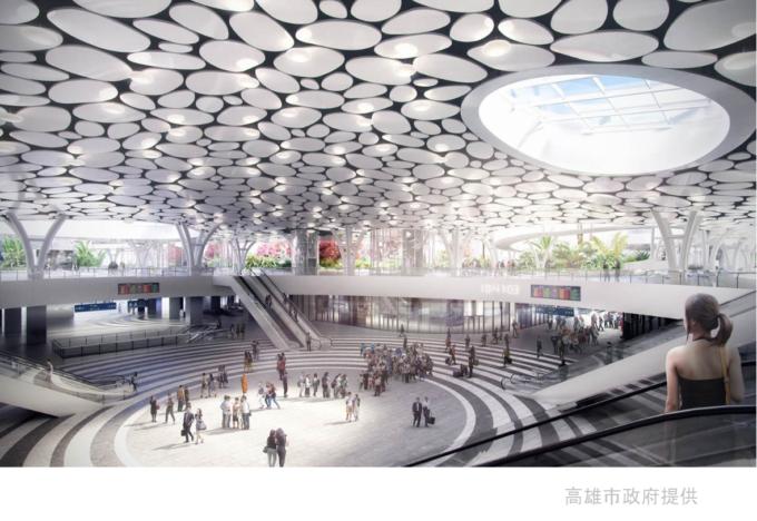 2023年開業予定の台湾高雄駅構内