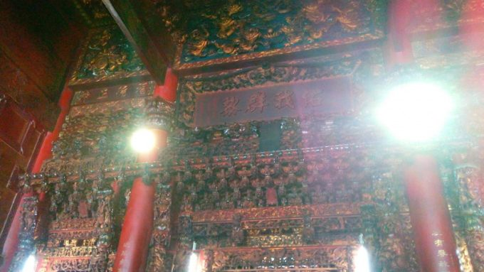 天府宮内部天井の細部なつくり