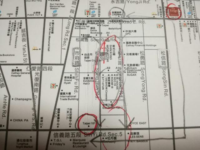ホテルマンがくれたマップ